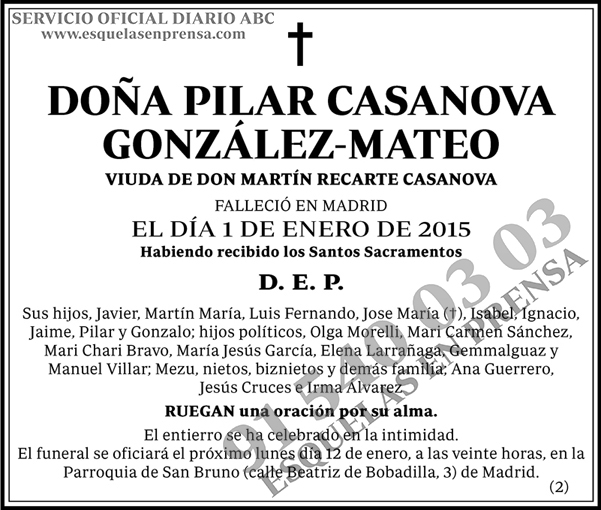 Pilar Casanova González-Mateo